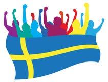 De ventilatorsillustratie van Zweden royalty-vrije illustratie