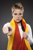 De Ventilatorverdediger Duitsland van de voetbalsport stock foto