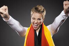 De Ventilatorverdediger Duitsland van de voetbalsport stock foto's