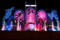 De Venus Reborn-vertoning bij de Verlichting van Blackpool, Lancashire, Engeland, het UK royalty-vrije stock afbeeldingen