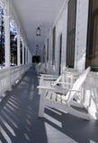 De Veranda van het hotel royalty-vrije stock afbeelding