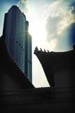 De veranderende architectuur van China royalty-vrije stock afbeelding