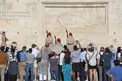 De Veranderende Wacht van Athene stock afbeelding