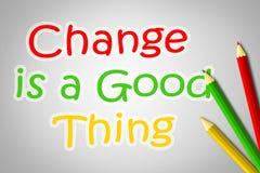 De verandering is een Goed Dingsconcept Stock Foto