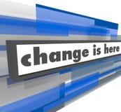 De verandering is hier - Abstracte Blauwe Staaf Stock Afbeelding