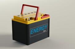 De verandering van de autobatterij Stock Foto's