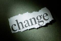 De Verandering van de krantekop Stock Foto