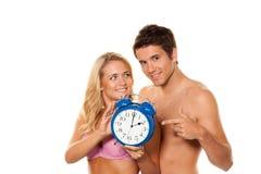 De verandering van de tijd, Uhrumstellung de winter Sommerze Stock Fotografie