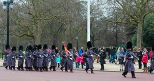 De verandering van de wacht in Buckingham Palace Royalty-vrije Stock Foto