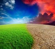 De verandering van het klimaat Stock Foto