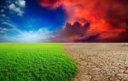 De verandering van het klimaat Stock Afbeeldingen