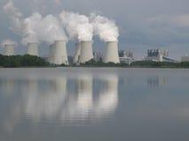 De verandering van het klimaat, Met kolen gestookte elektrische centrale Royalty-vrije Stock Foto