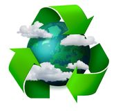 De verandering van het klimaat recyclingsconcept stock illustratie