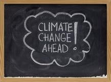 De verandering van het klimaat vooruit Stock Afbeelding