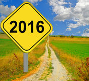 de verandering van 2015 van 2016 Stock Afbeelding