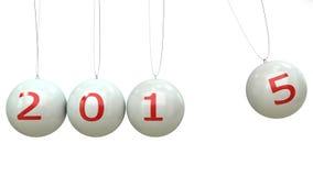de verandering van 2014-2015 vertegenwoordigt het nieuwe jaar 2014 Stock Foto