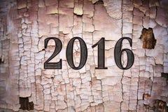 de verandering van 2015-2016 vertegenwoordigt het nieuwe jaar 2016 Stock Foto's