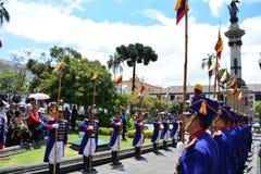 De verandering van wachten in Quito, Ecuador royalty-vrije stock foto