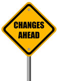 De veranderingen ondertekenen vooruit Royalty-vrije Stock Foto