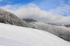 De veranderingen van het weer in bergen Stock Afbeeldingen