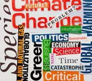 De veranderingsachtergrond van het klimaat Royalty-vrije Stock Foto