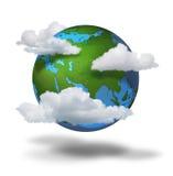 De veranderingsconcept van het klimaat Stock Foto