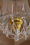 De verbazende lamp van het Kristal uitstekende paleis met gouden kern stock fotografie
