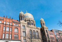 De verbazende Nieuwe Synagoge in Berlijn stock foto's
