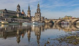 De verbazende Oude Stad van Dresden royalty-vrije stock foto