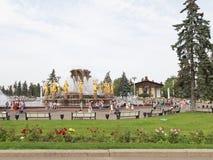 De verbazende parkenea zomer in Moskou Stock Afbeeldingen