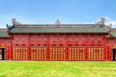 De verbazende rode houten bouw van de Purpere Verboden Stad, Tint stock afbeeldingen