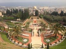 De verbazende tuinen van Haifa Israel Baha ' I Royalty-vrije Stock Foto