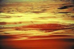 De verbazende vormingen van het zandduin in Liwa-oase, Verenigde Arabische Emiraten stock afbeelding