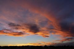 De verbazende Zonsondergang van Colorado over Denver royalty-vrije stock afbeelding
