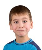 De verbazing en de boze jongen stock foto