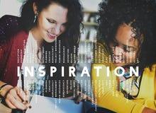 De Verbeelding van de inspiratieaspiratie inspireert Droomconcept stock afbeelding
