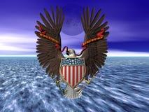 De verbinding, de trots en de vrijheid van Verenigde Staten. royalty-vrije illustratie
