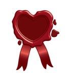 De verbinding van de was in de vorm van hart Vector Illustratie