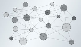 De verbinding van het cirkelinformatienet het 3D teruggeven Stock Afbeeldingen
