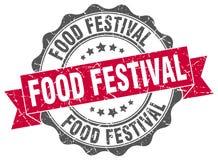 de verbinding van het voedselfestival zegel stock illustratie