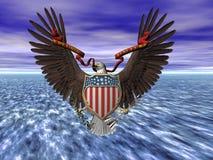 De verbinding van Verenigde Staten, pluribusunum van E. stock illustratie