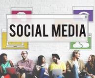 De Verbindingsconcept van het communicatietechnologie Online Voorzien van een netwerk Royalty-vrije Stock Afbeeldingen