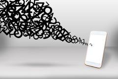 De verbindingsconcept van het gegevensvoorzien van een netwerk, Mobiele telefoon en meer aantal Royalty-vrije Stock Foto