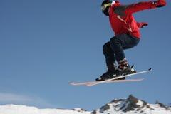 De verbindingsdraad van de skiër Stock Foto