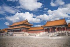 De verboden Stad is het grootste paleis complex in de wereld Royalty-vrije Stock Afbeelding