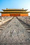 In de Verboden Stad in Peking royalty-vrije stock foto's