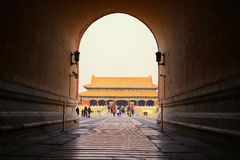 De verboden stad, Peking Royalty-vrije Stock Afbeeldingen