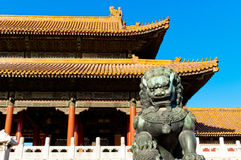 De verboden Stad in Peking Royalty-vrije Stock Foto's