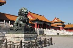 De verboden Stad. Peking, China Royalty-vrije Stock Afbeeldingen