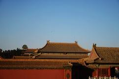 De verboden stad in Peking, China stock foto's